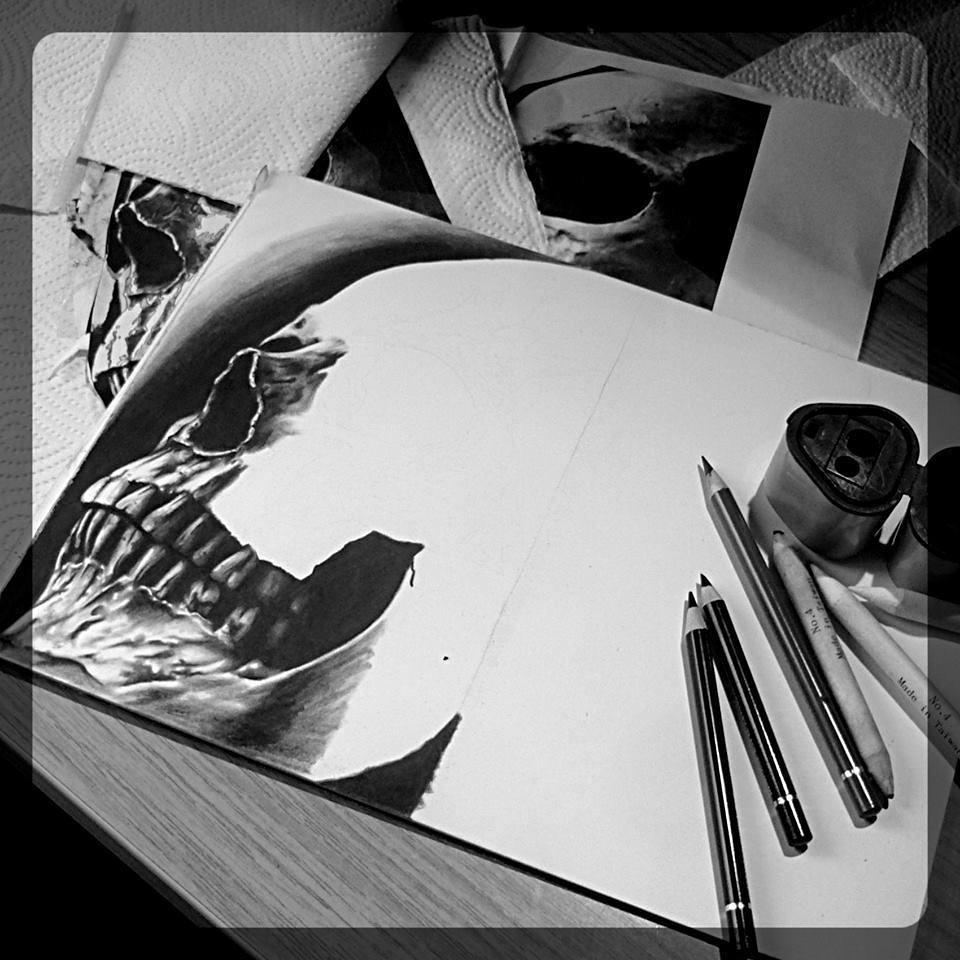 Some skulldrawing.....in progress....thx for looking #germantattooers #tattookul
