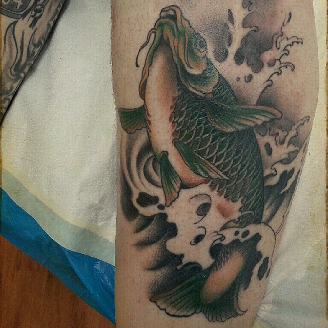 Something different healed carp asia style to be continued,  #stuckinthepasttatt