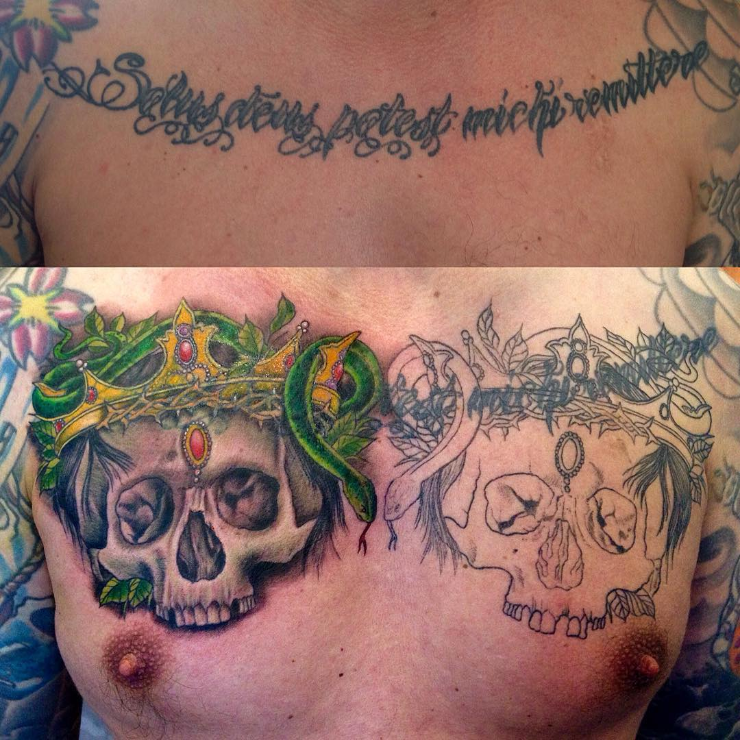Start of a Cover-Up project, continued next week, stay tuned. #tattoo #tattoing ...