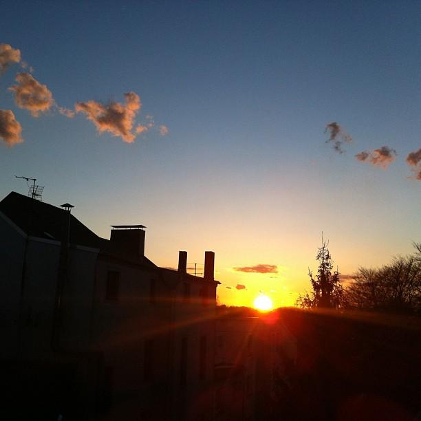 Sunset over Beverly Buer - no Filter! #sun#sunset#buer#beverlybuer#gelsenkirchen...