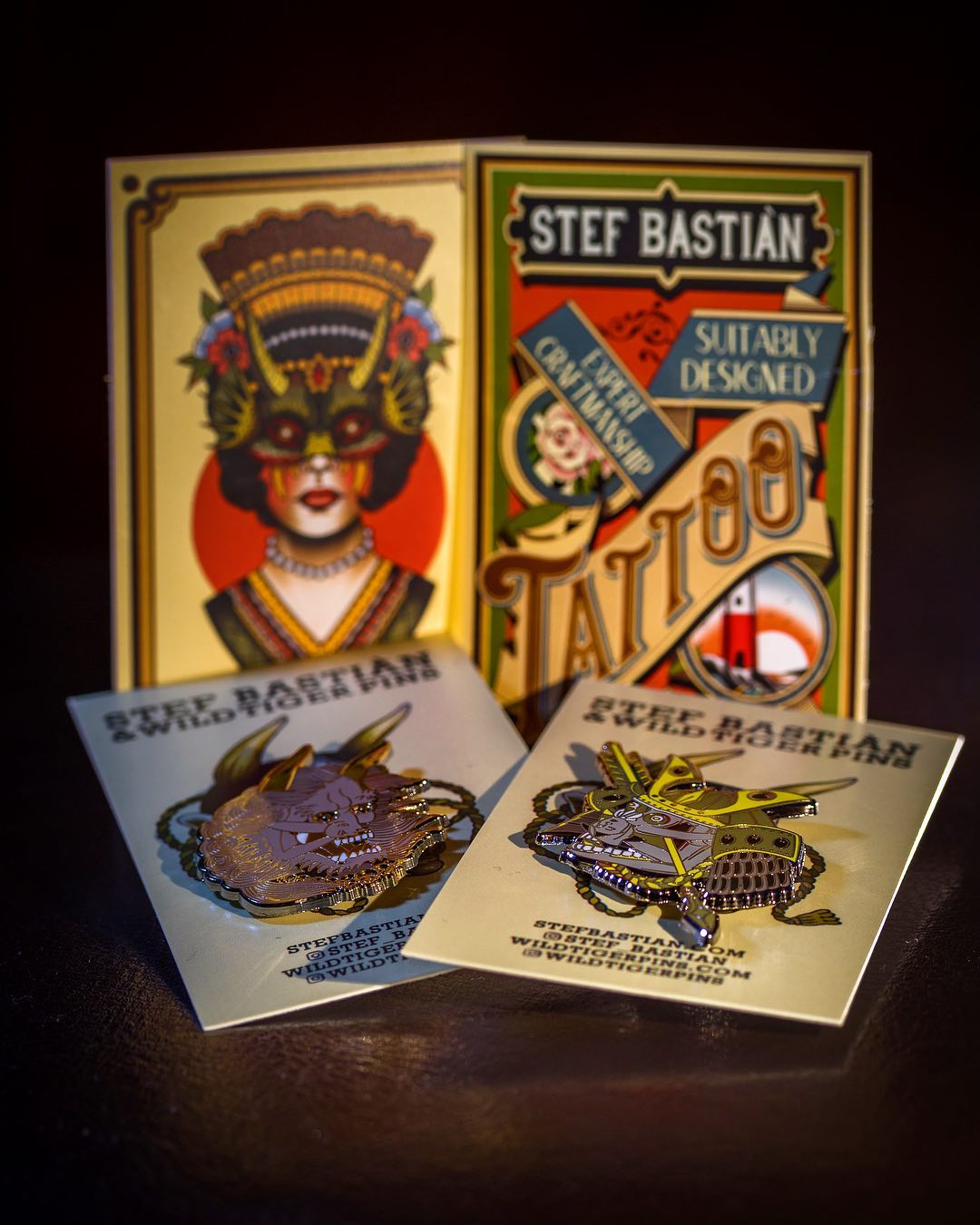 Super-stoked to have received these awesome enamel pins from my friend @stef_bas...