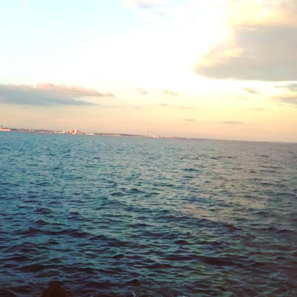 Sweden ahead! #sea#balticsea#denmark#sweden#helsingør#helsingborg#waves#tide...