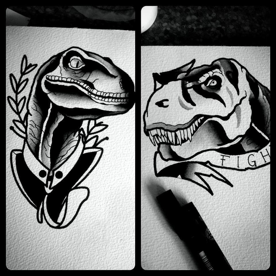 Time for some jurasic wannados....up for grabs....thx for looking #germantattooe