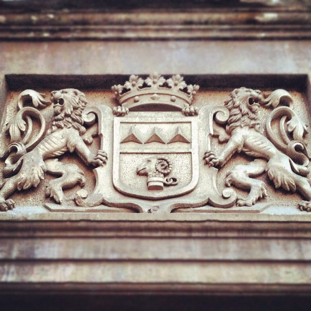 To the lions! #castle#lions#heraldic#symbols#sign#stone#fortress#ram#entrance#ga...