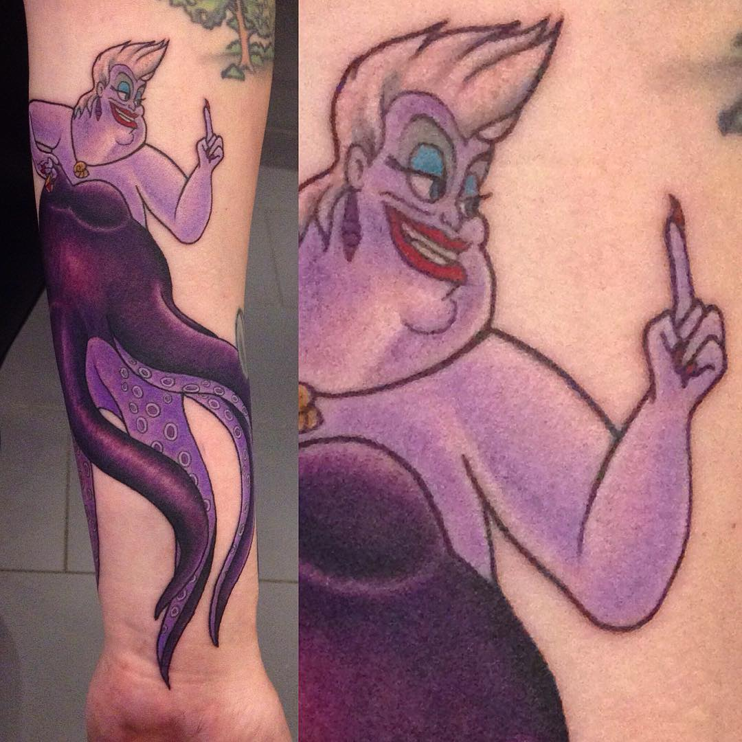 """Ursula"" from Disney's Arielle on Ronja's lower arm from a couple of weeks ago  ..."