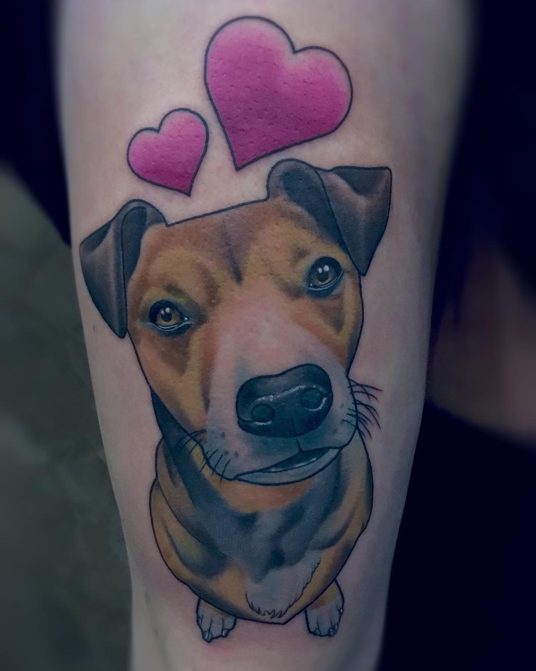 Vielen Dank fürs durchalten Aline! Hat wirklich Spass gemacht!!! #dogtattoo #dog
