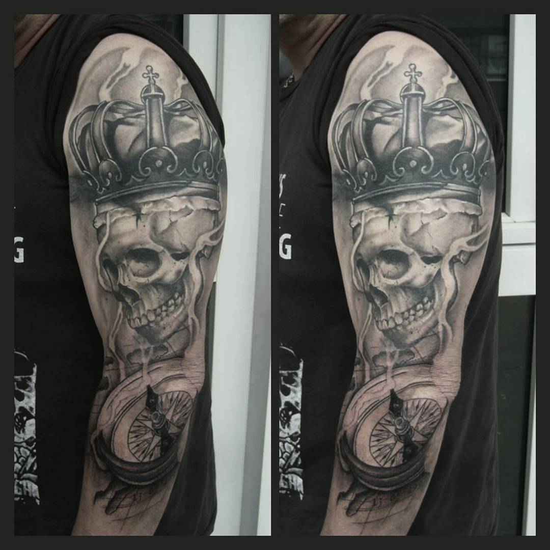 WIP......upper arm completly healed with al il coverup.....thank you andreas for
