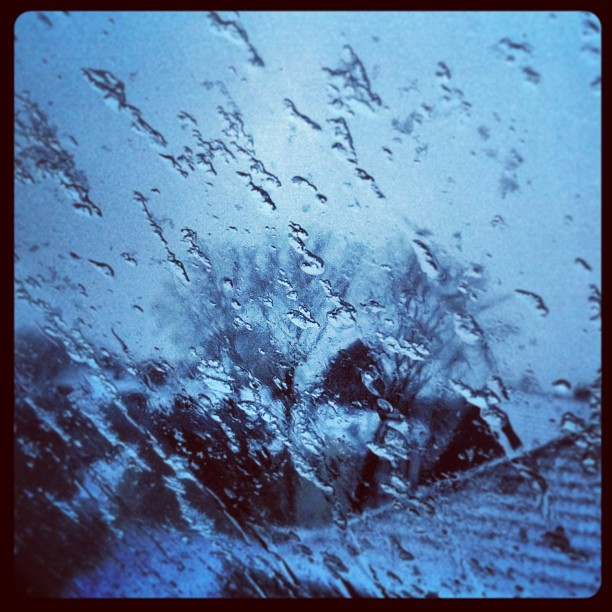 Winter is coming. #snow#snowing#snowfall#winter#window#glass#view#sky#skyfall#wi...