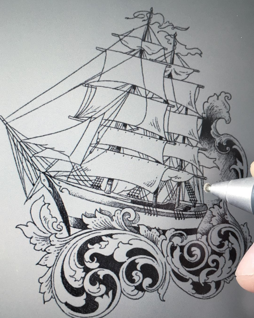 another ship drawing in progress, its up for  grabs,  please drop ne a Mail  stu