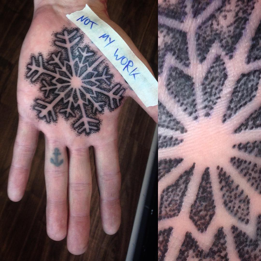 at the heart of winter  #tattoo #tattoing #tatovering #dotwork #dotworktattoo#ma...