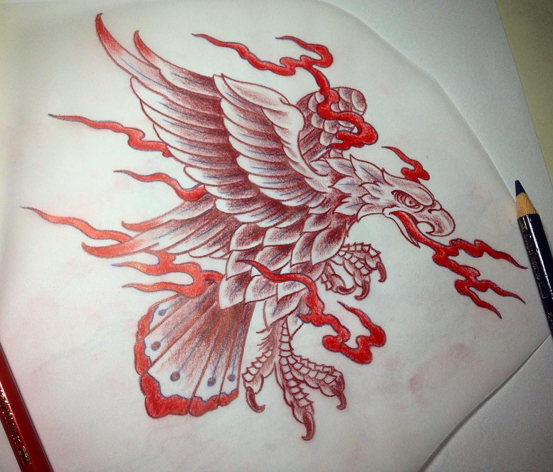 early morning, coffee, music and colored pencils... #tattoo #tattooing #tatoveri...