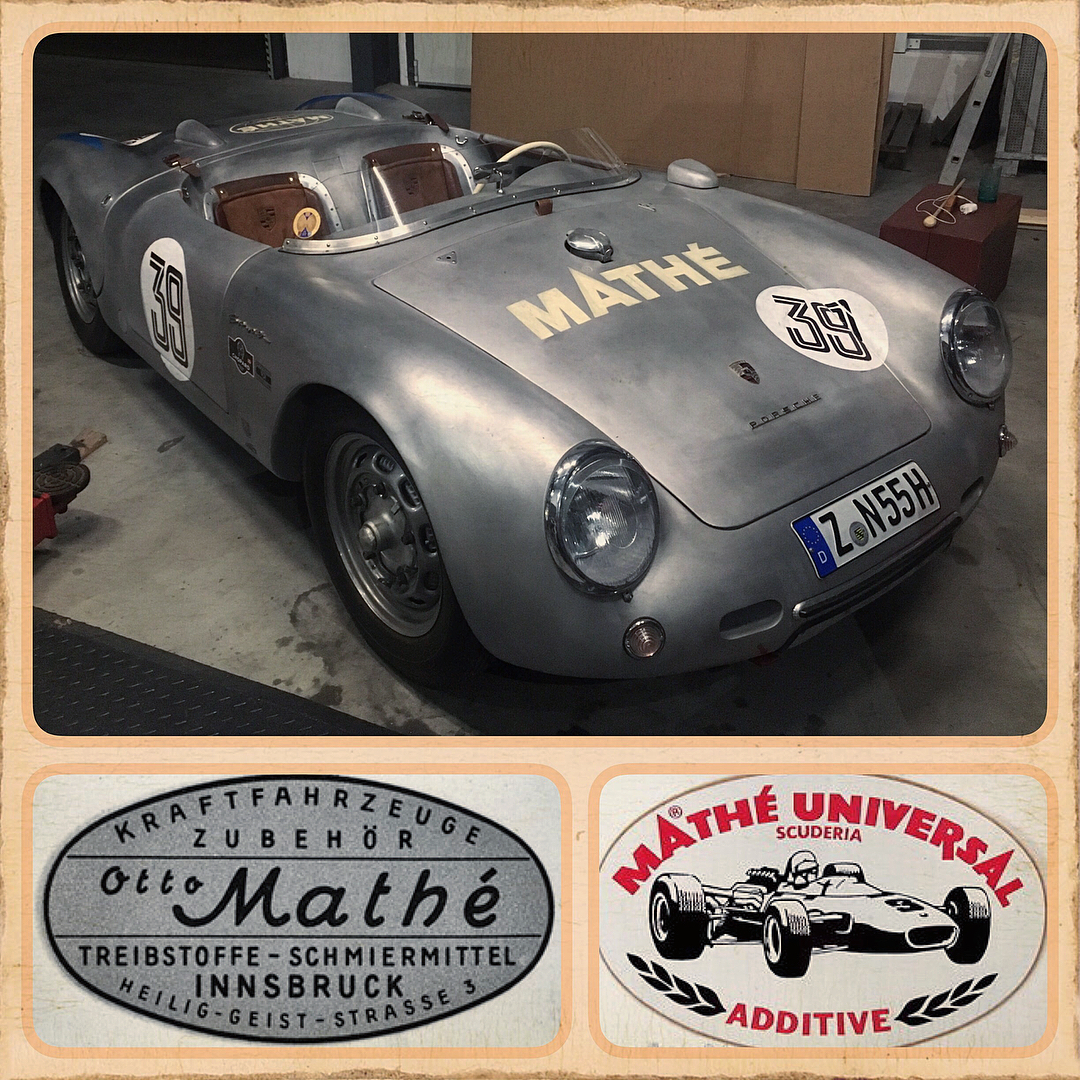 first pictures of the porsche 550 spider prototype, seems like a otto mathe raci
