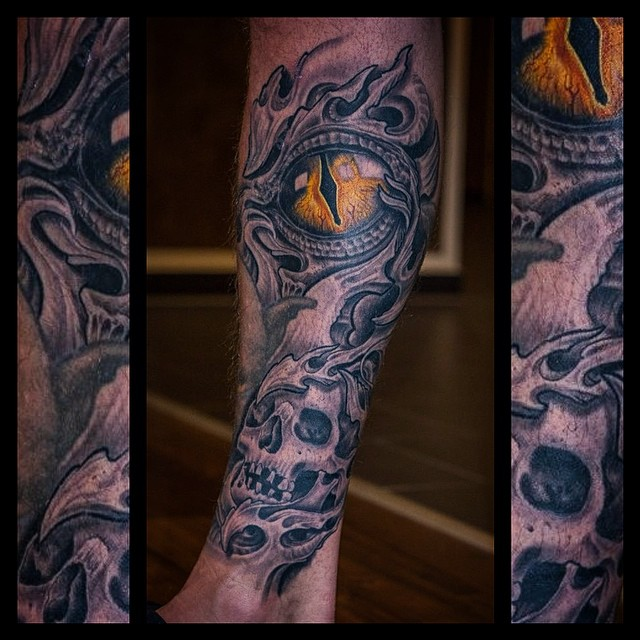 fully healed after 2 months #tattoo #tattooing #biomech#biomechanical#organica#b...
