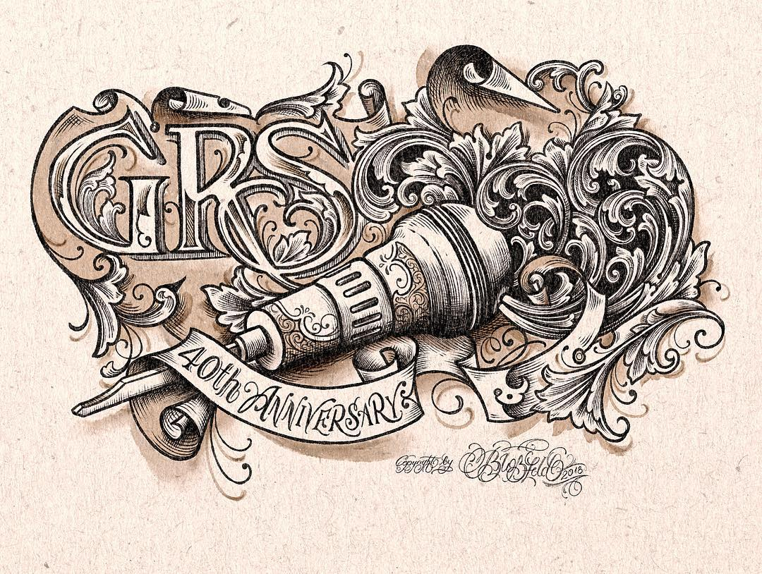 i drew this for the 40th anniversary @grstools @master_engraver #matthiasblossfe