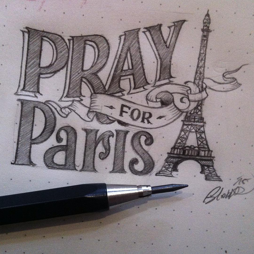 #prayforparis #france #paris  #loveletters #ligaturecollective @ligaturecollecti