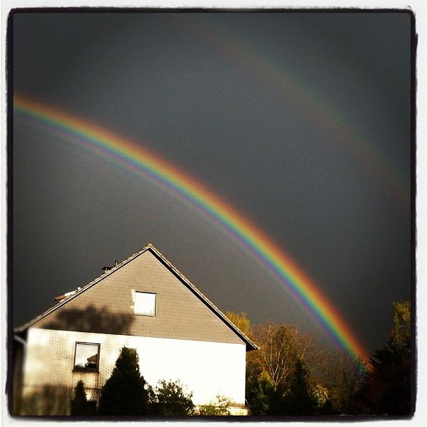 #rainbow#rain#sunshine#sky#skyline #clouds#weather#ruhrpott #recklinghausen#hoch...