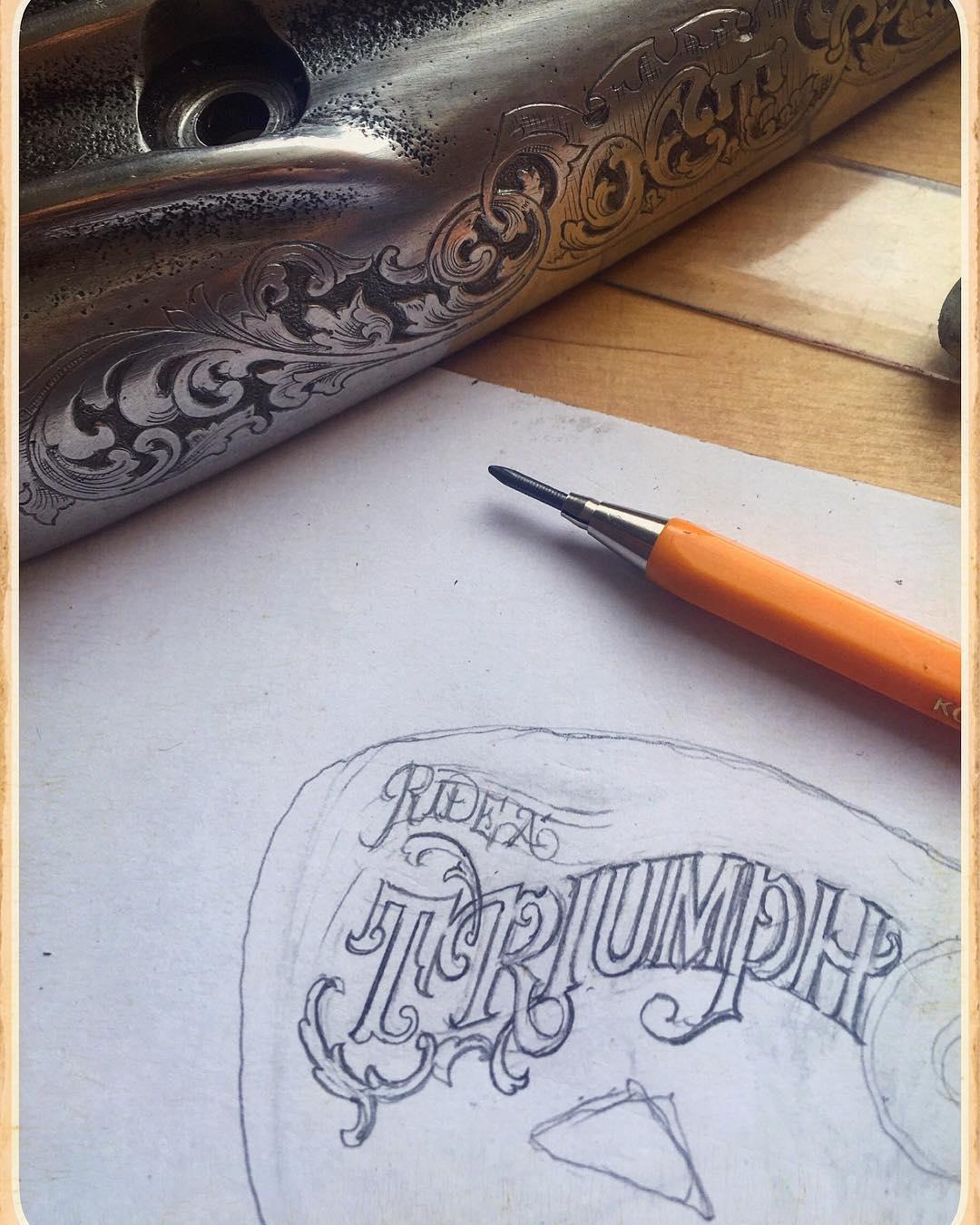 sketching first ideas maybe a good line.. #matthiasblossfeld #handwerkinschriftu