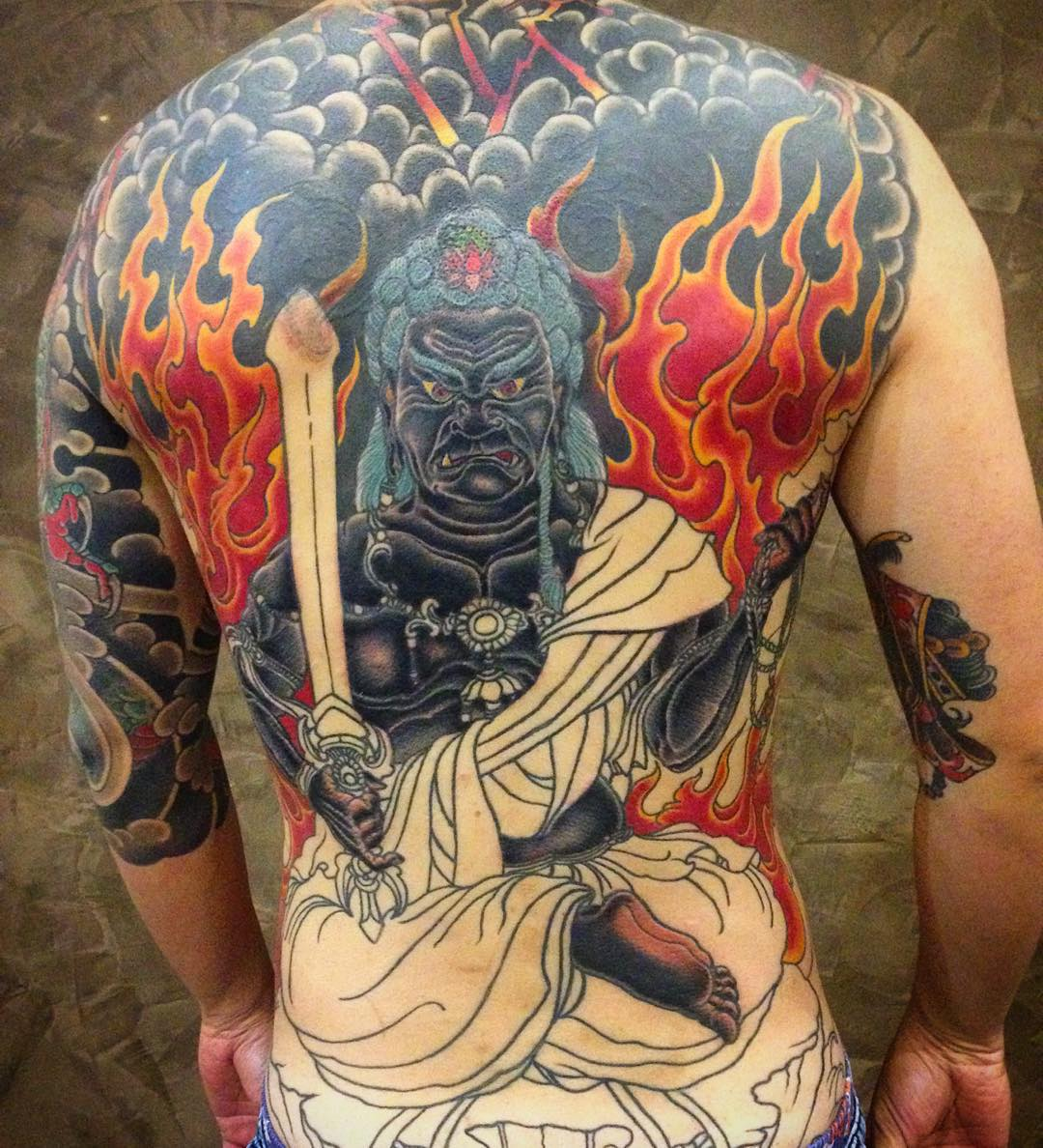 slooowly progressing on this massive Cover-Up project...almost 1/3 of his back i...