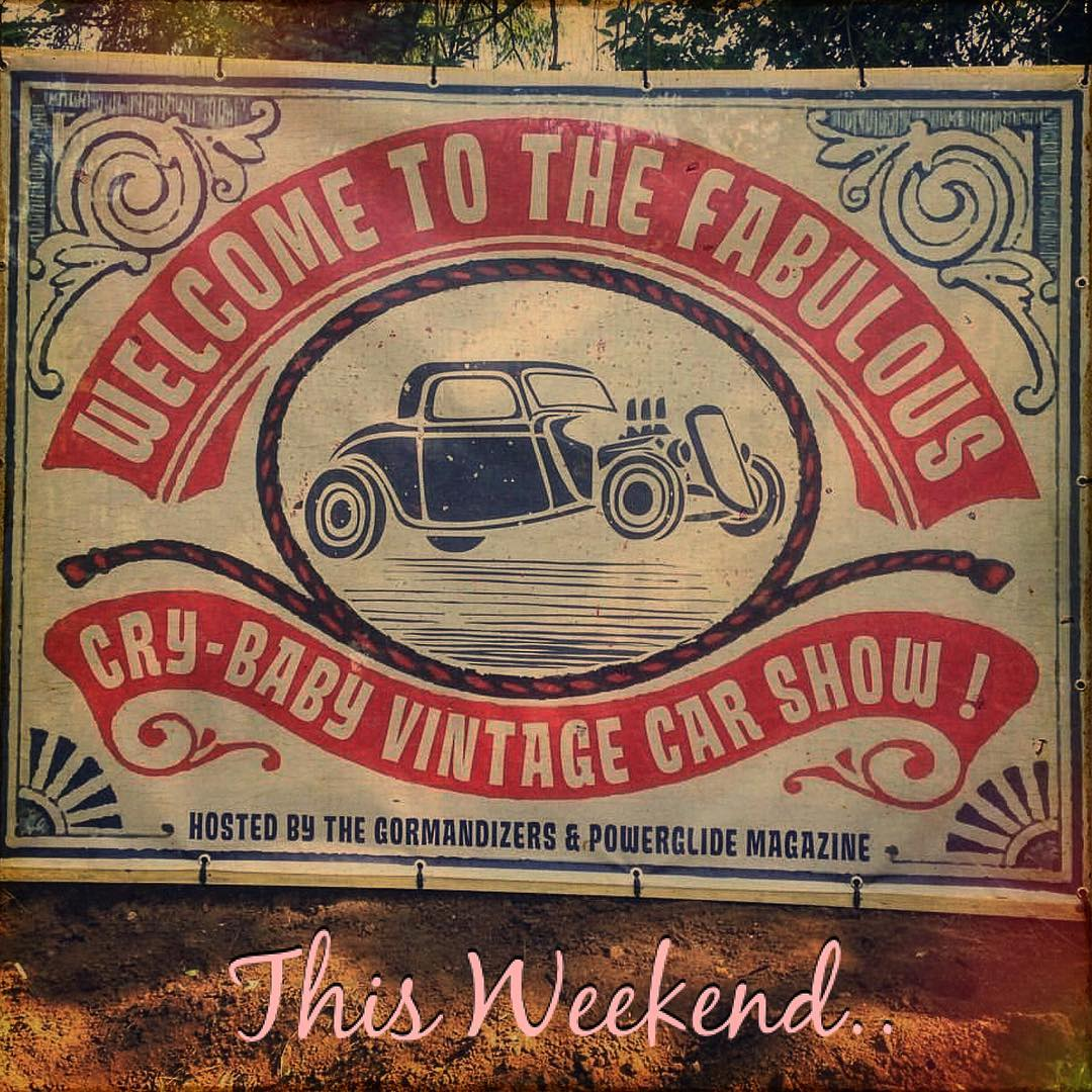 this weekend i will be at the great CRY BABY Car show in france .. @etienneempir