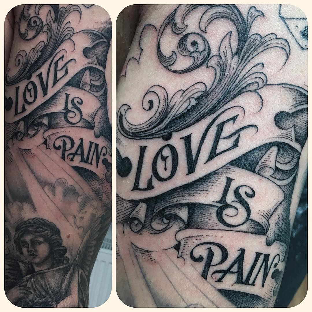 today, a Little bit freehand.. sleeve in progress,  #stuckinthepasttattoo #finel