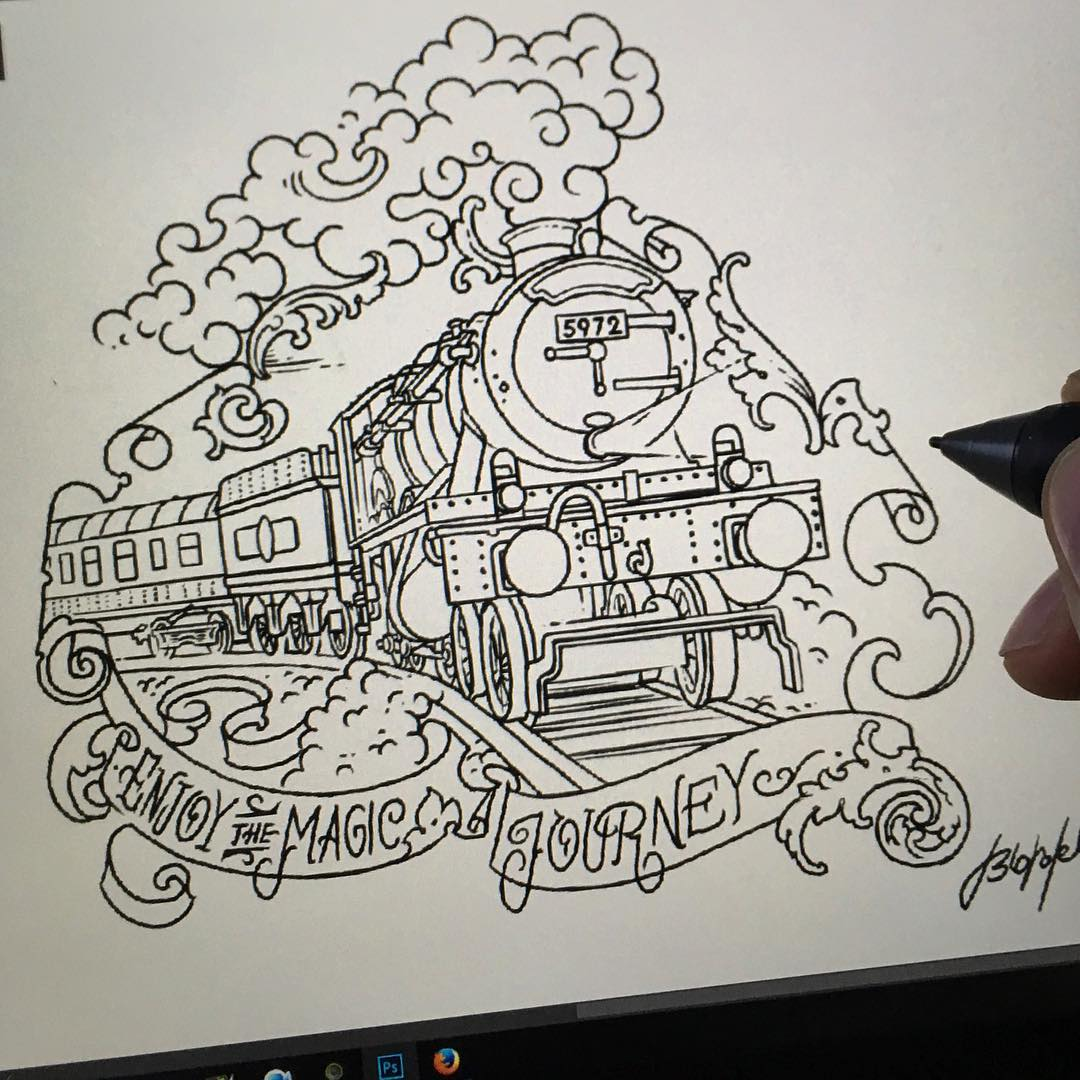 today i finally finished the lines of my first harry potter flash.  i would do e