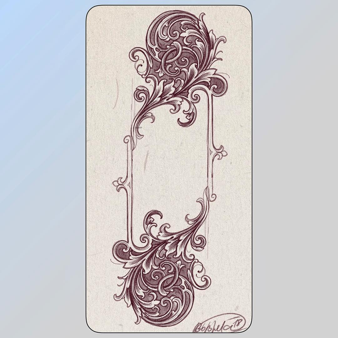 try a little bit to melt art nouveau, victorian and scrollwork designs.. .. cool