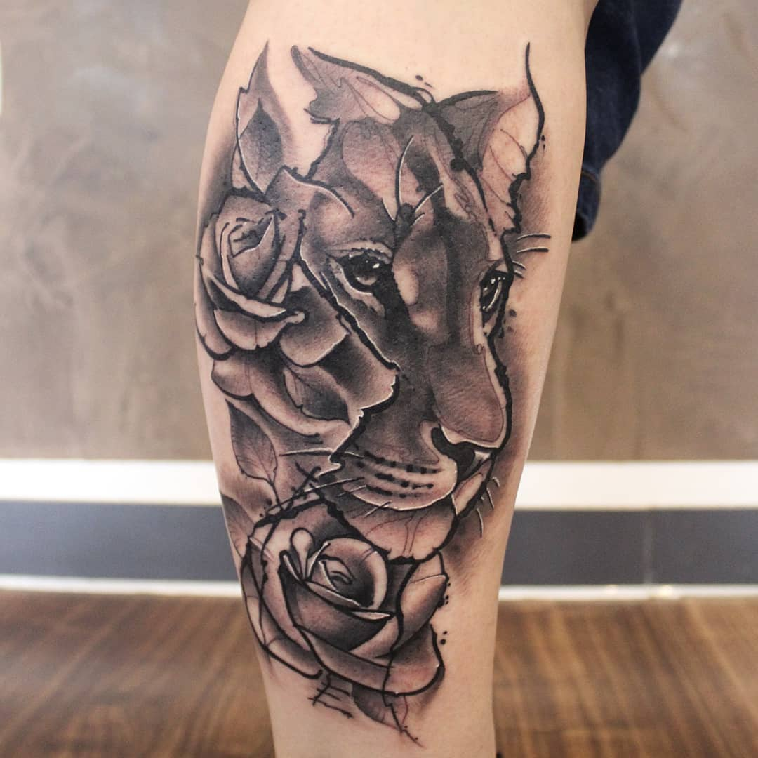 Female Lion for Jessi. Thx so much for your Trust! #germantattooers #germanartis