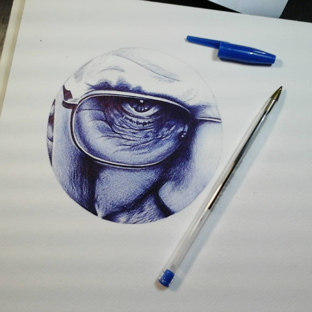 First try with a ballpointpen.....in progress #germantattooers #germanartist #ba