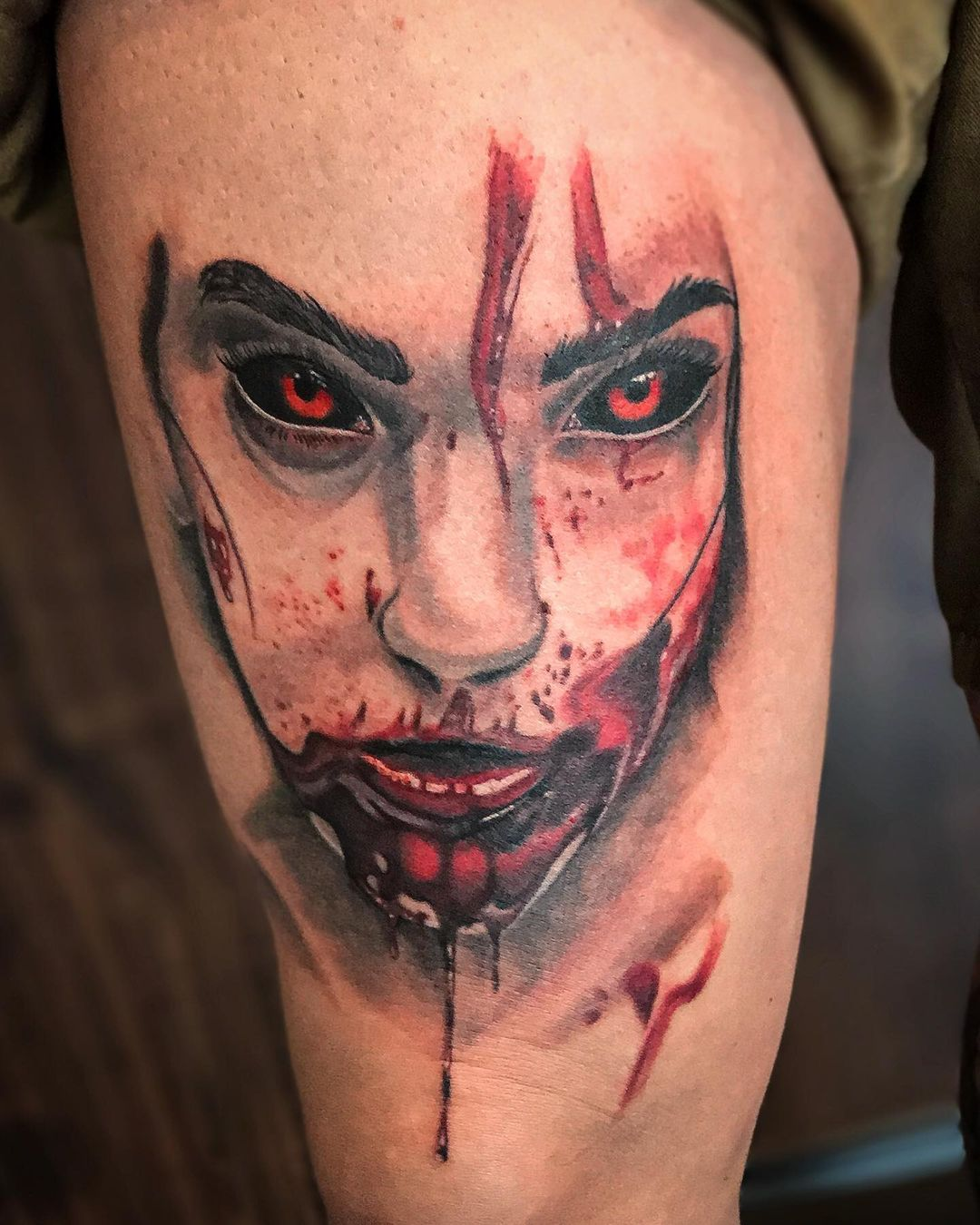 Halloween is coming nearer, here's some bloody stuff... . . .  #tattoo #tattooin...