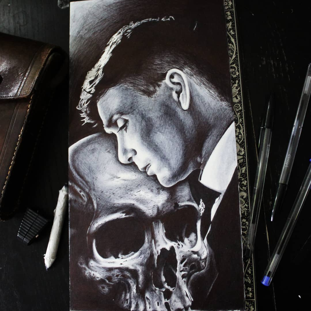 Done with Thomas Shelby. Thx for looking #germantattooers #germanartist #tattoow
