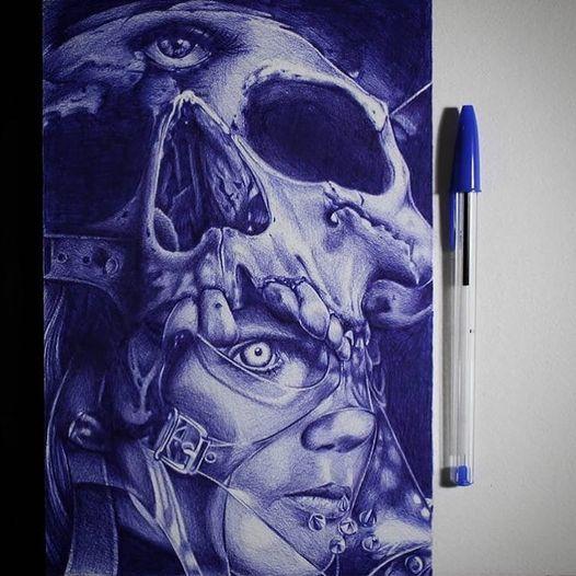 Neues von @tommyschaarschmidt  Alles mit Kugelschreiber angefertigt, was ich per