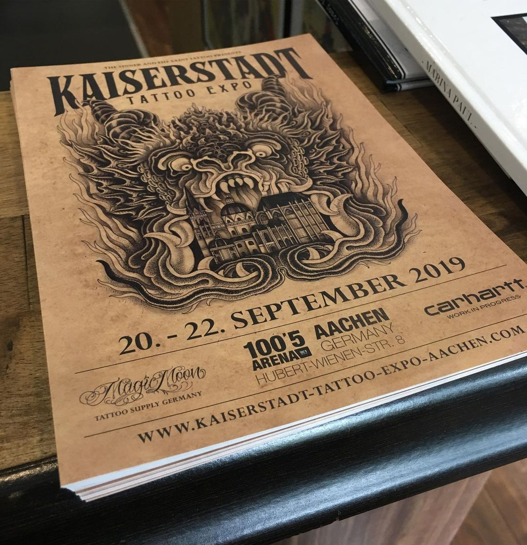 I will be working at the amazing @kaiserstadt_tattoo_expo_aachen... Cant wait to