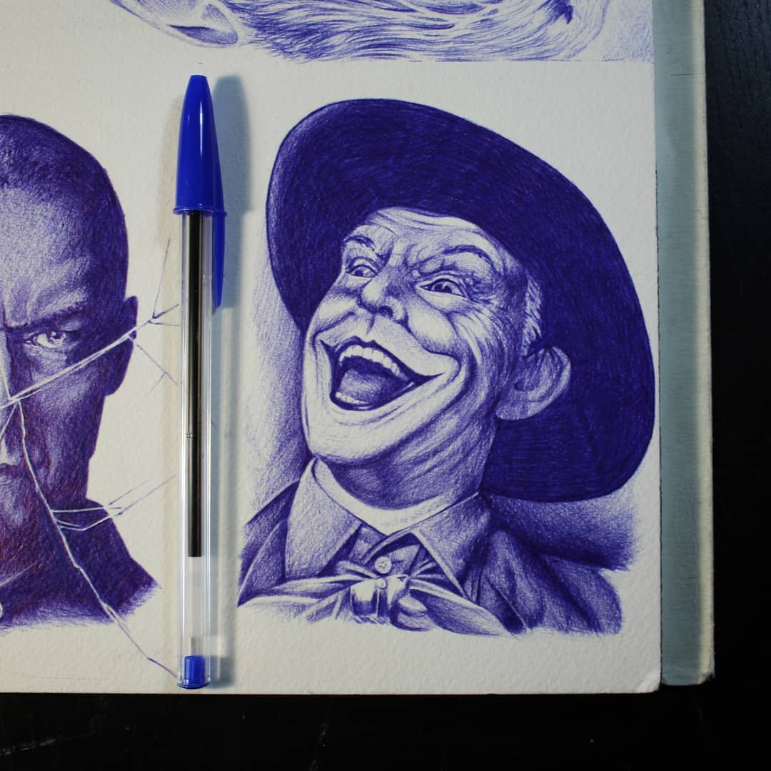 Little @jacknicholsonofficial Joker. Thanks for looking! #germantattooers #tatto