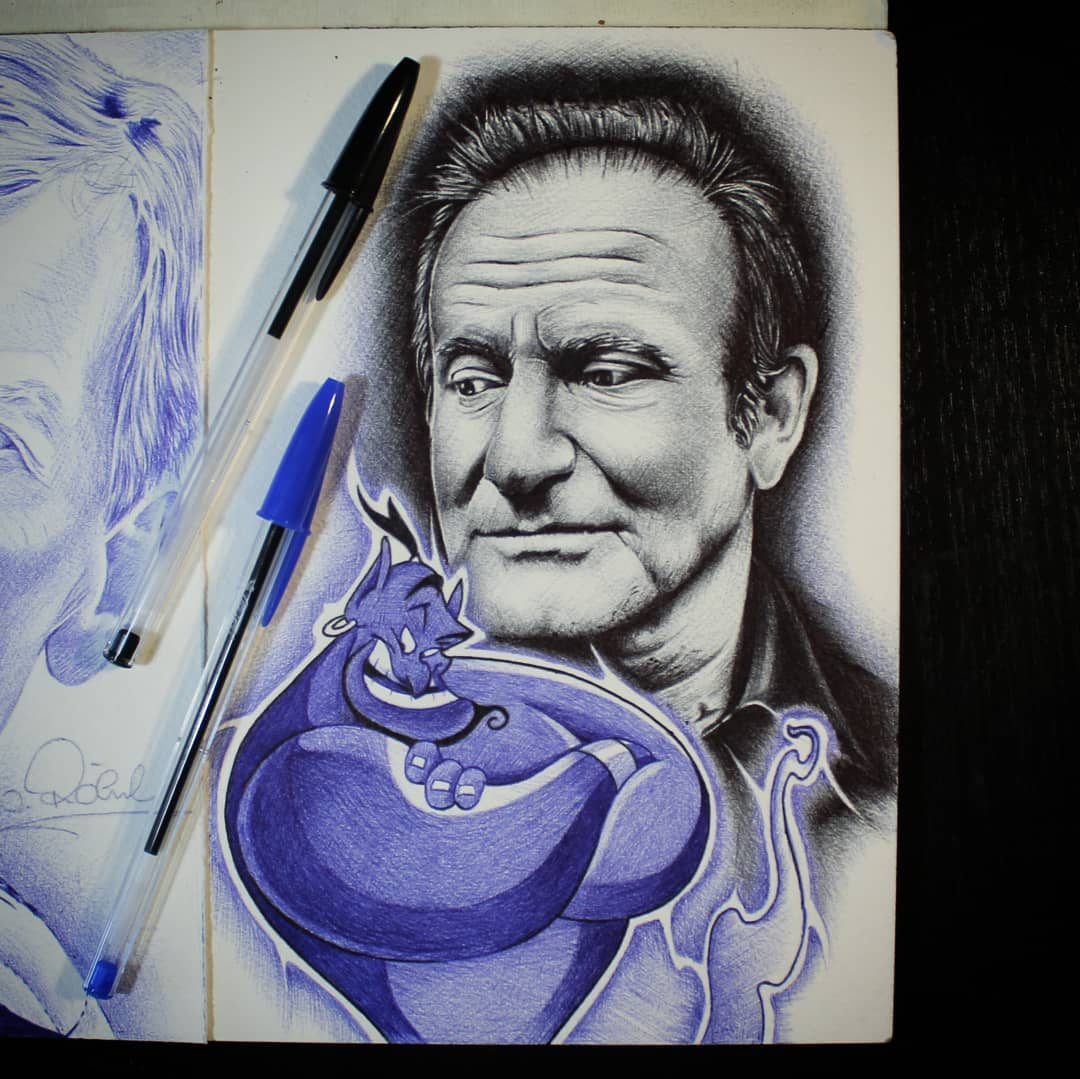 Little Tribute to the one and only @robinwilliamsofficial . Thx for looking #ger