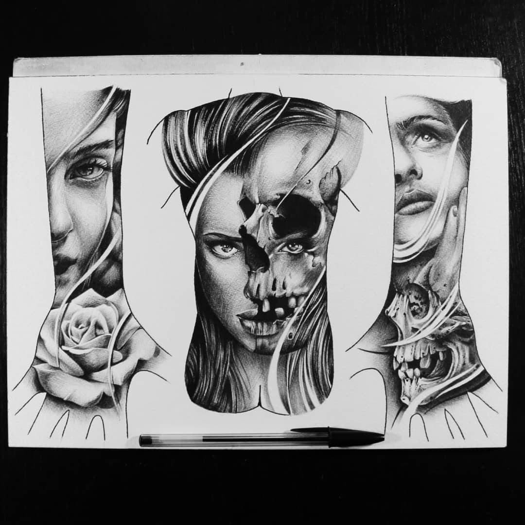 Some bodyconcepts all available as tattoo #germantattooers #germanartist #tattoo